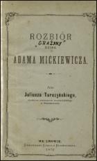 Rozbiór dzieł Adama Mickiewicza