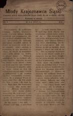 Młody Krajoznawca Śląski, 1934, R. 1, nr 1