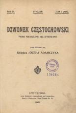 Dzwonek Częstochowski : pismo miesięczne, illustrowane. 1903, R.3, T.1(19) - styczeń