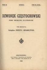 Dzwonek Częstochowski : pismo miesięczne, illustrowane. 1903, R.3, T.3(21) - marzec
