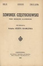 Dzwonek Częstochowski : pismo miesięczne, illustrowane. 1903, R.3, T.4(22) - kwiecień