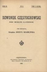 Dzwonek Częstochowski : pismo miesięczne, illustrowane. 1903, R.3, T.5(23) - maj