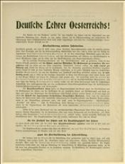 Odezwa wzywająca nauczycieli do głosowania za socjaldemokratami w walce z klerykalizmem o wolną szkołę - Wiedeń 1911 r.