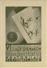 Program uroczystości zjazdu śpiewaczego w Katowicach