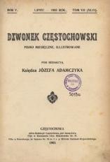 Dzwonek Częstochowski : pismo miesięczne, illustrowane. 1905, R.5, T.7(49) - lipiec