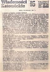 Wiadomości Katowickie, 1981, nr16