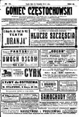 Goniec Częstochowski, 1914, R. 9, No 14