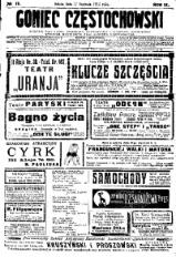 Goniec Częstochowski, 1914, R. 9, No 17