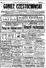 Goniec Częstochowski, 1914, R. 9, No 22