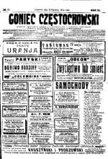 Goniec Częstochowski, 1914, R. 9, No 29