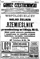 Goniec Częstochowski, 1914, R. 9, No 35
