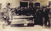 Lisięcice. Uroczystość pogrzegowa, kwiecień 1947 r.