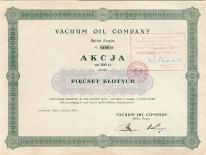 Akcje Vacuum Oil Company 1930 rok.