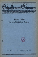 Schaffen und Schauen, 1928, Jg. 4, nr. 10