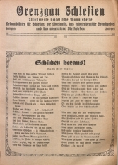 Grenzgau Schlesien, 1924, Juli-Heft