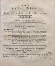 Amts-Blatt der Königlichen Oppelnschen Regierung, 1830, Bd. 15, St. 27