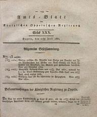 Amts-Blatt der Königlichen Oppelnschen Regierung, 1830, Bd. 15, St. 30