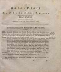 Amts-Blatt der Königlichen Oppelnschen Regierung, 1830, Bd. 15, St. 36