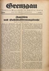 Grenzgau, 1925, Oktober