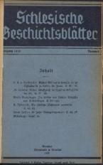 Schlesische Geschichtsblätter, 1930, Nr. 2