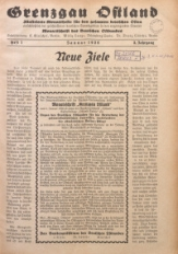 Grenzgau Ostland, 1926, Jg. 3, Heft 1