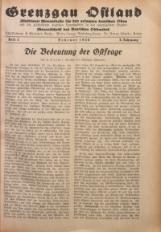 Grenzgau Ostland, 1926, Jg. 3, Heft 2