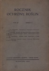 Rocznik Ochrony Roślin, T. 3, zeszyt 3