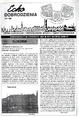 Echo Dobrodzienia i Okolic : pismo samorządu i mieszkańców miasta i gminy Dobrodzień 1993, nr 2.