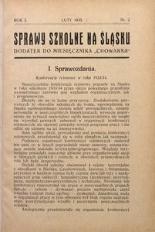 Sprawy szkolne na Śląsku, 1935, R. 1, nr 2