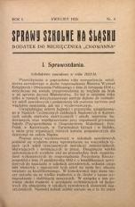 Sprawy szkolne na Śląsku, 1935, R. 1, nr 4