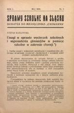 Sprawy szkolne na Śląsku, 1935, R. 1, nr 5