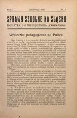 Sprawy szkolne na Śląsku, 1935, R. 1, nr 6