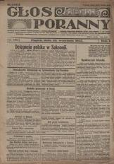 Głos Poranny, 1922, R. 1, nr 151