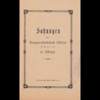 Satzungen der Baugenossenschaft Nikolai E.G.m.b.H in Nikolai