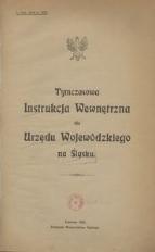 Tymczasowa Instrukcja Wewnętrzna dla Urzędu Wojewódzkiego na Śląsku