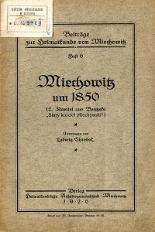 Miechowitz um 1850. 2. Kapitel aus Bontzeks