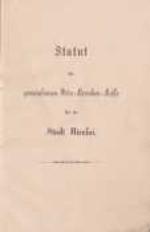 Statut der gemeinsamen Orts-Kraken-Kasse für die Stadt Nicolai