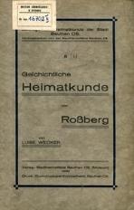 Geschichtliche Heimatkunde von Rossberg