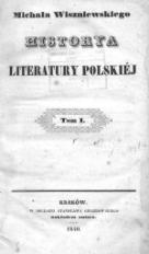 Historya literatury polskiej. T.1