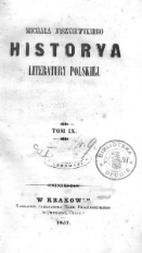 Historya literatury polskiej. T.9