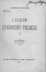 Z dziejów literatury polskiej
