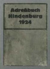 Adreßbuch Hindenburg 1924