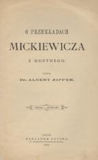 O przekładach Mickiewicza z Goethego