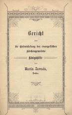 Bericht über die Entwickelung der evangelischen Kirchengemeinde Königshütte