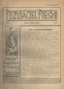 Przyjaciel Pieśni, 1936, R. 1, nr 8