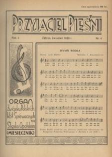 Przyjaciel Pieśni, 1938, R. 3, nr 4