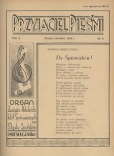 Przyjaciel Pieśni, 1938, R. 3, nr 6