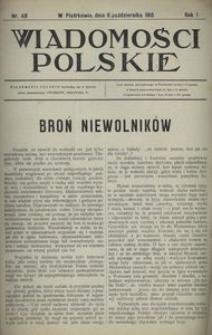 Wiadomości Polskie 1915, nr 48