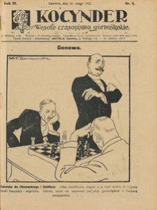 Kocynder, 1922, R. 3, nr 3