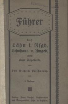Führer durch Lähn im Riesengebirge Lehnhaus u. Umgebung nebst einer Wegekarte. - 3. Auflage